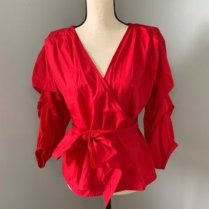 GUEST EDITOR Red Long Sleeve Top